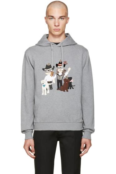 Dolce & Gabbana - Grey Designer Family Hoodie