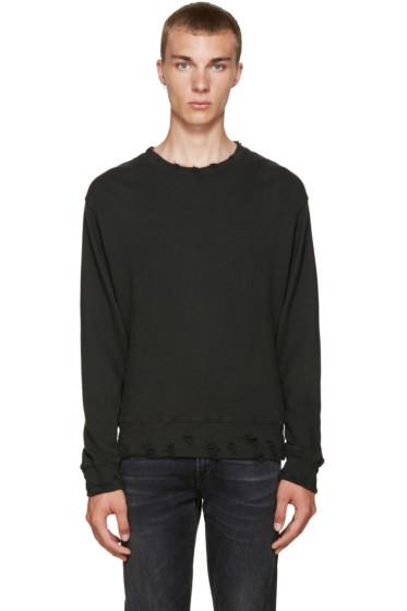 R13 - Black Vintage Pullover