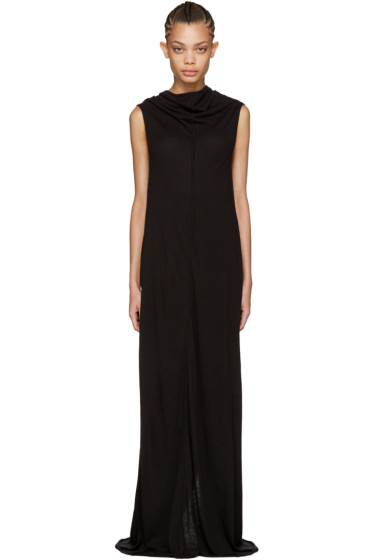 Rick Owens Lilies - Black Long Jersey Dress