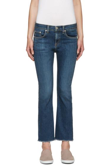 Rag & Bone - Indigo Crop Flare Jeans