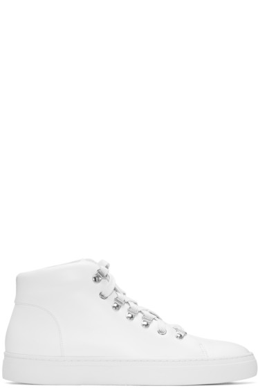 Tiger of Sweden - White Yngve High-Top Sneakers
