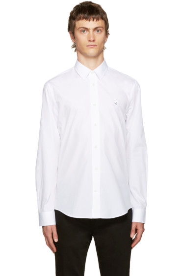 Acne Studios - White Jeffrey Pop Face Shirt