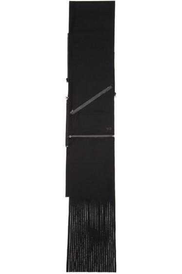 Y-3 - Black Wool Zippered Scarf