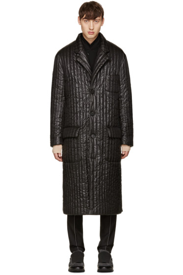 Maison Margiela - Black Down Long Coat