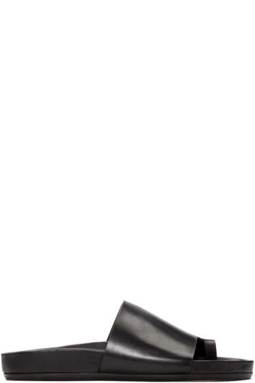 Rick Owens - Black Octavia Granola Sandals