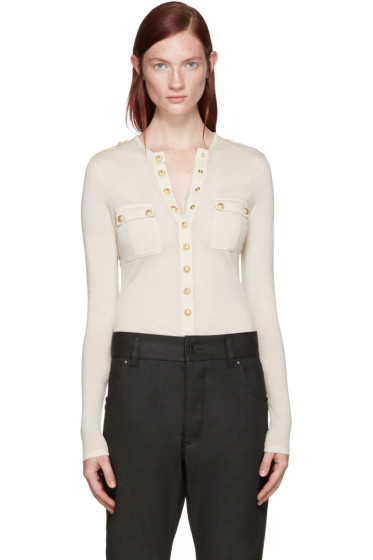 Balmain - Beige Wool Henley