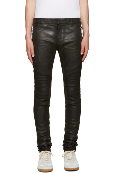 Balmain - Black Coated Super Skinny Jeans