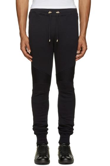 Balmain - Navy Biker Lounge Pants