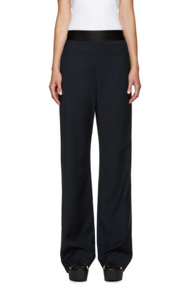 Opening Ceremony - Navy Wide-Leg Focal Trousers