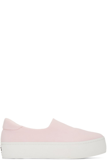 Opening Ceremony - SSENSE Exclusive Pink Platform Slip-On Sneakers