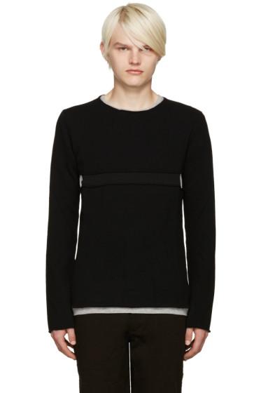 Comme des Garçons Shirt - Black Cut-Out Sweater