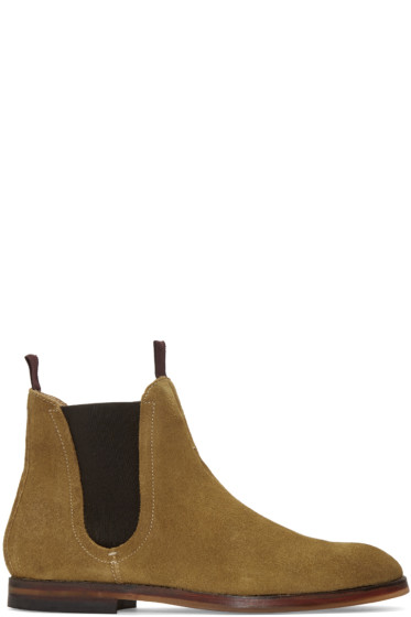 H by Hudson - Tan Suede Tamper Chelsea Boots