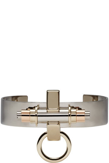 Givenchy - Silver Obsedia Cuff Bracelet