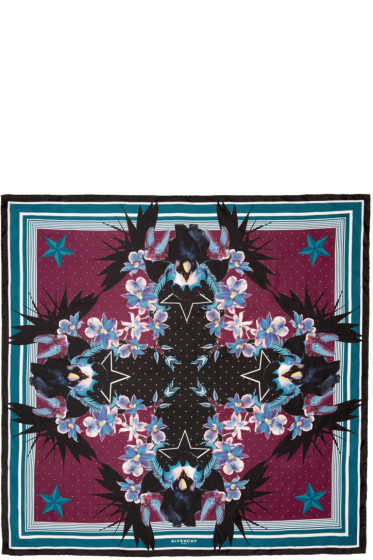 Givenchy - Multicolor Paradise Flower Scarf