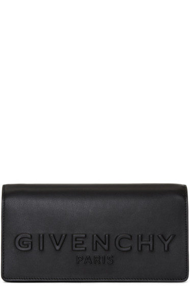 Givenchy - Black Debossed Chain Wallet Bag