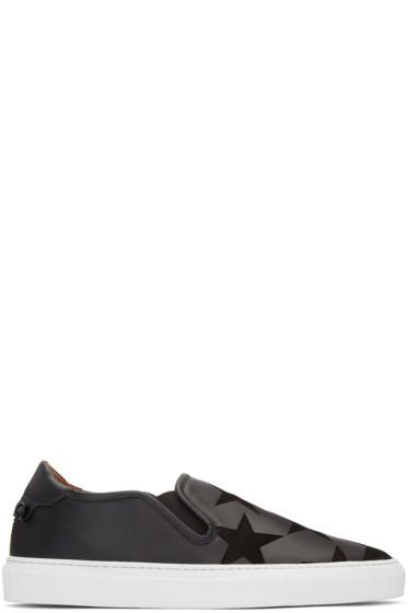 Givenchy - Black Stars Street Skate Slip-On Sneakers