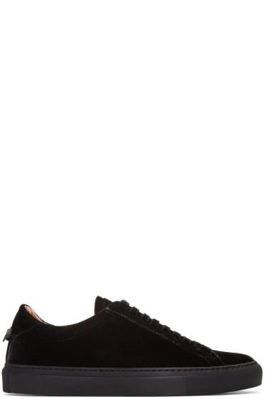Givenchy - Black Velvet Sneakers