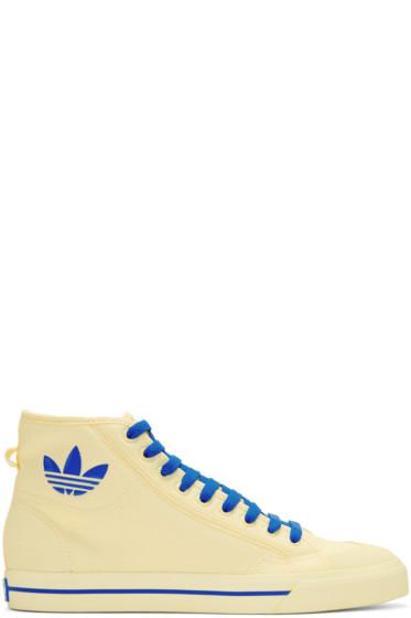 Raf Simons - Ivory adidas Edition Matrix Spirit High-Top Sneakers
