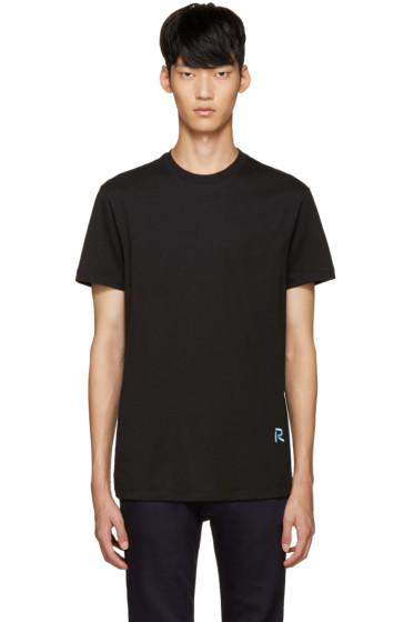 Raf Simons - Black Embroidered Logo T-Shirt