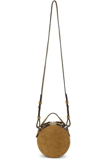 Carven - Brown Suede Circle Bag