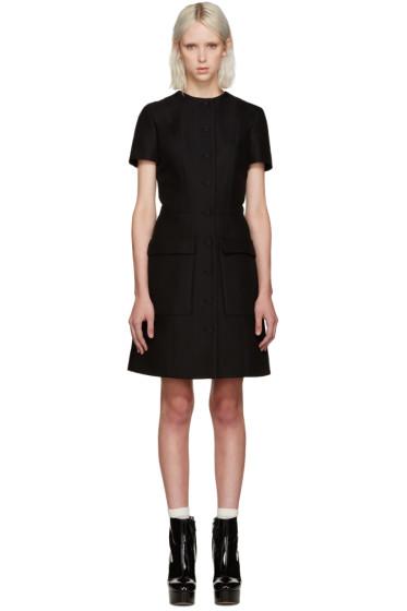 Carven - Black Buttoned Dress