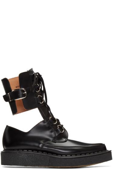 Comme des Garçons Homme Plus - Black Buckles Cut-Out Boots