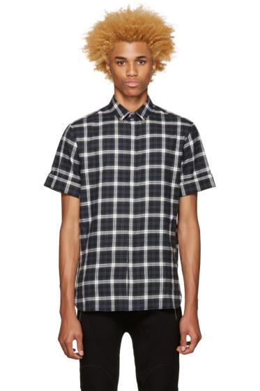 Neil Barrett - Grey Pierced Collar Shirt