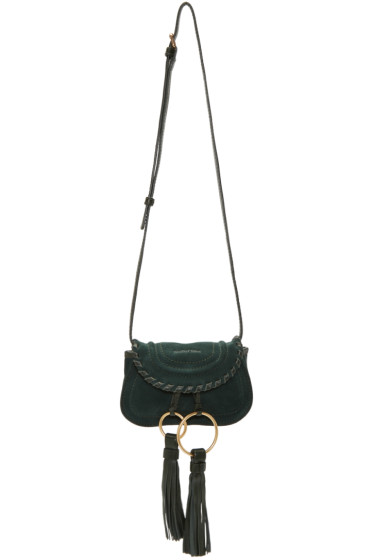 See by Chloé - Green Suede Mini Tassel Bag