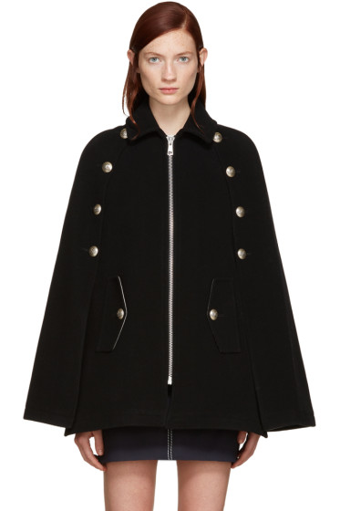 See by Chloé - Black Military Cape Coat