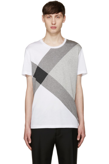 Burberry - White Foster Check T-Shirt
