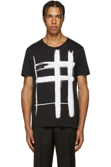 Burberry - Black Check Print T-Shirt