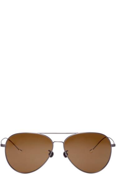 Ann Demeulemeester - Gunmetal Aviator 40 C3 Sunglasses