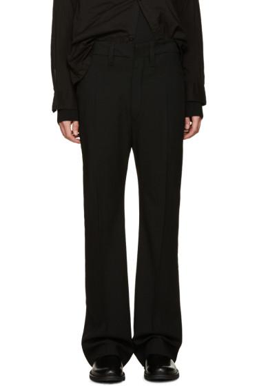 Ann Demeulemeester - Black Wide-Leg Wool Trousers