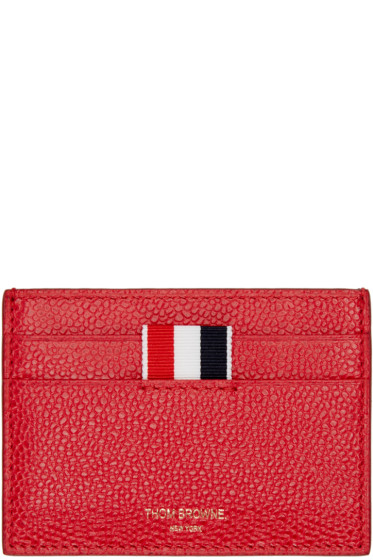 Thom Browne - Red Leather Card Holder