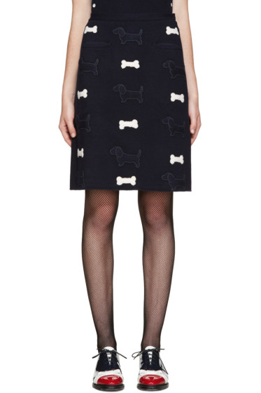 Thom Browne - Navy Hector Appliqué Skirt