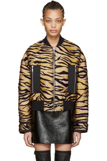Kenzo - Beige Tiger Stripes Bomber Jacket