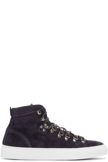 Diemme - Navy Suede Marostica Mid-Top Sneakers
