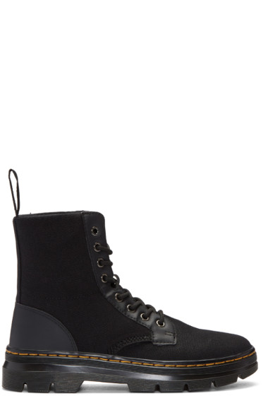 Dr. Martens - Black Canvas Combs Boots