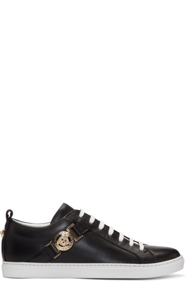 Versace - Black Medusa Medallion Sneakers