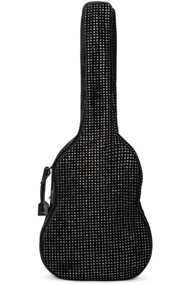 Saint Laurent - Black Velvet & Glitter Guitar Case