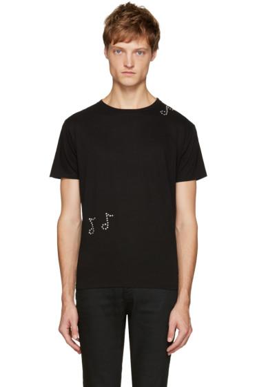 Saint Laurent - Black Crystal T-Shirt