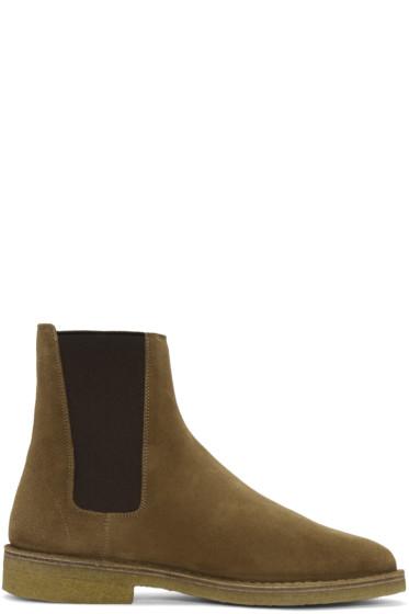Saint Laurent - Tan Suede Nevada Boots