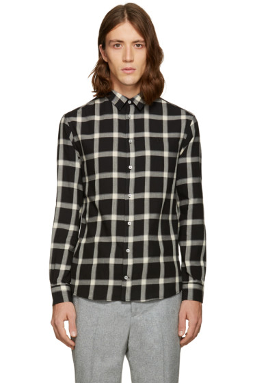 MSGM - Black Plaid Shirt