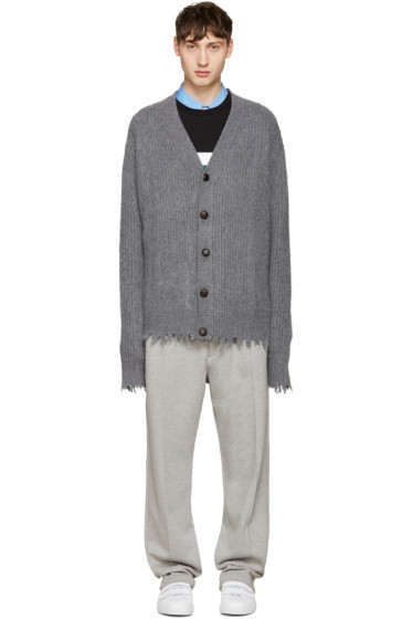 MSGM - Grey Raw Edge Cardigan