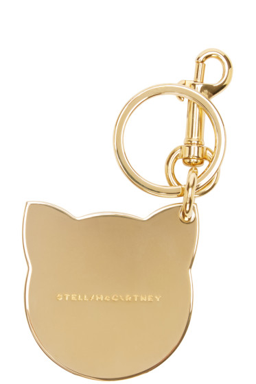 Stella McCartney - Gold Cat Keychain