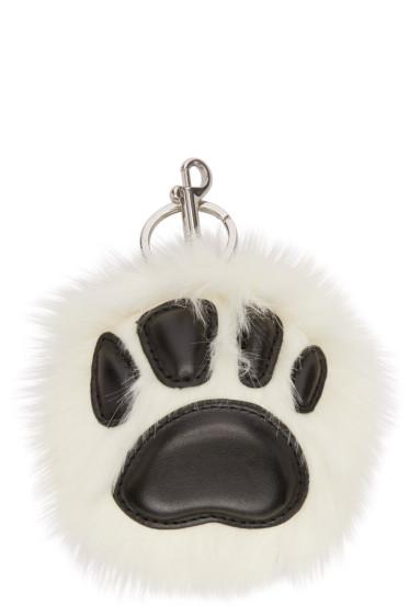 Stella McCartney - Ivory Faux-Fur Paw Keychain