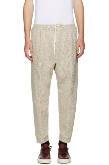 Umit Benan - Beige Herringbone Lounge Pants