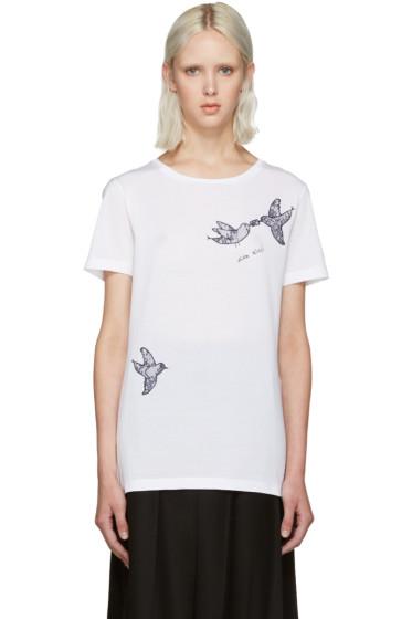 Nina Ricci - White Lace Bird T-Shirt