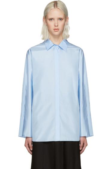 Nina Ricci - Blue Technical Silk Blouse