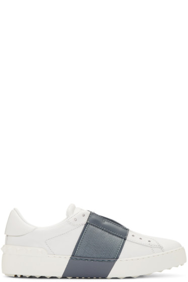 Valentino - White & Grey Open Sneakers
